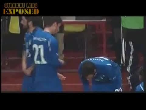 Gennaro Gattuso pulls down shorts