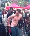 naked man at festival