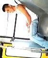 leonardo wanks on bus