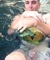 naked in pool