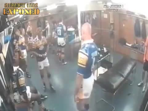 More naked Leeds Rhinos locker room