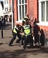 Naked man taken down by police