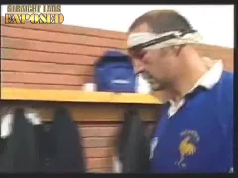 locker room french rugby players
