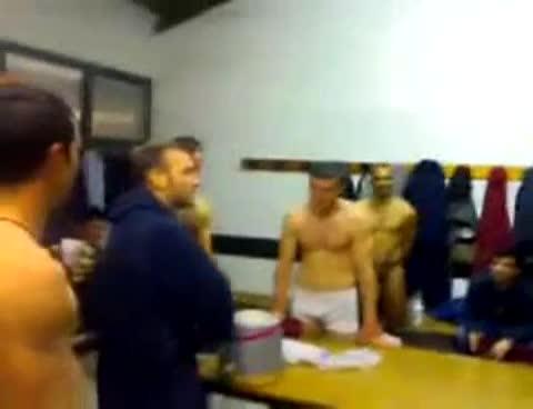italian footballers in locker room