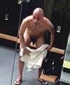 naked man at gym