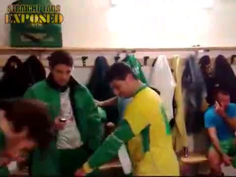 italian football players in locker room 2