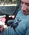 wanker lad in the car