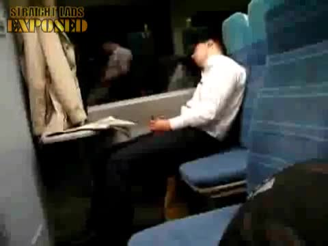 lad's cock out on train