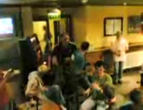 lad gets naked in pub