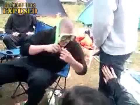 lad pisses into mates snorkel