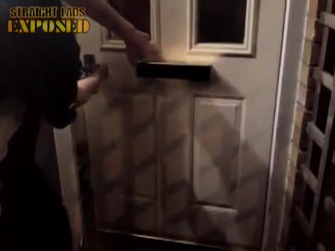 lad pisses out of letterbox