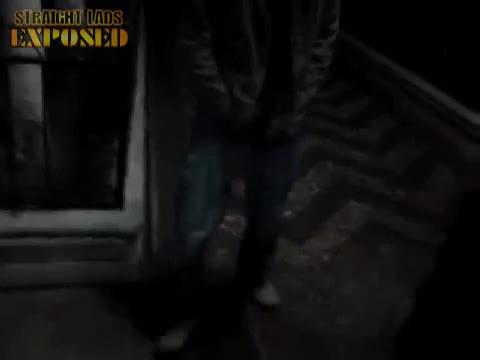 lad pissing as he walks