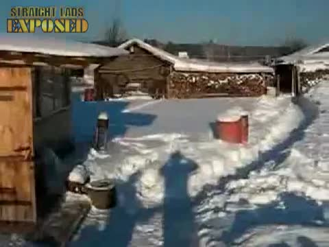 lads naked snow dive