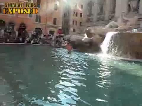 lads in public fountain