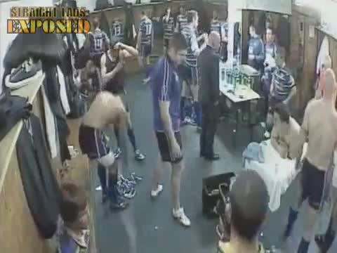 leeds rhinos players caught locker room