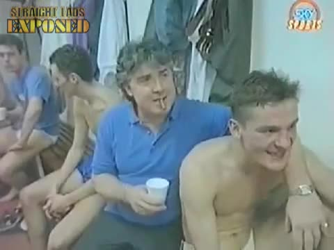 naked footballers in locker room