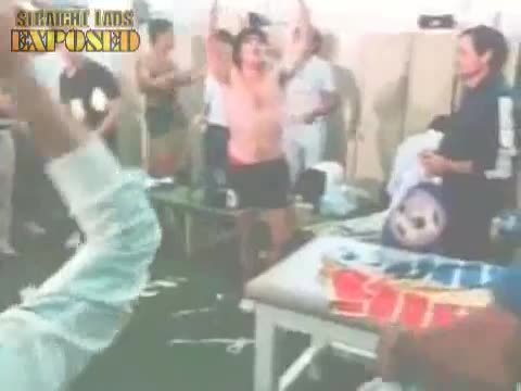 maradona and other players in locker room