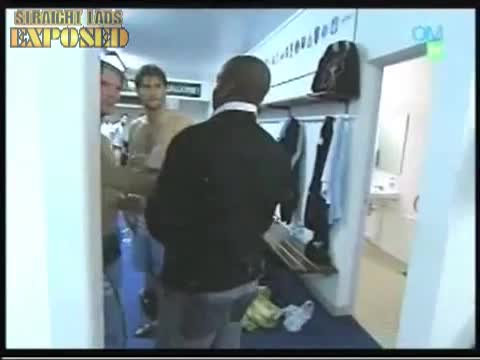 marseille player naked in locker room