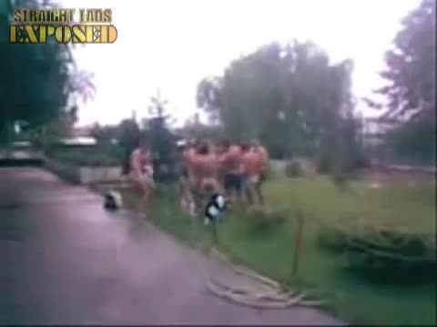 naked during rugby initiation