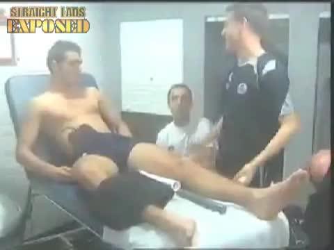 football player massage