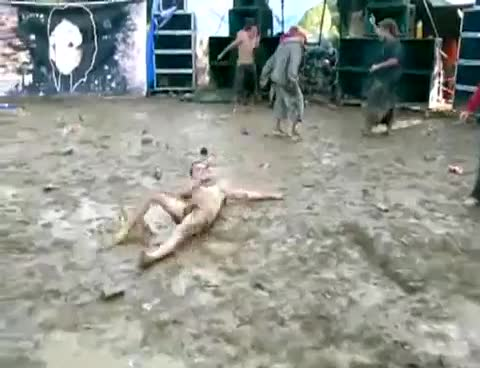 naked lad at festival