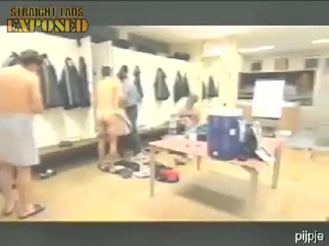 naked  football players in locker room