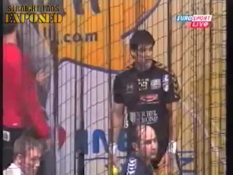 player caught putting on jock strap