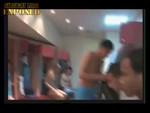 players in locker room changing