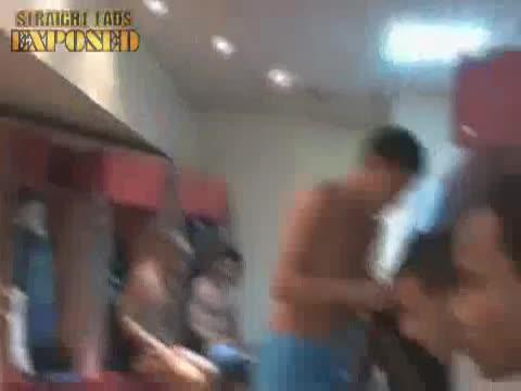 football players locker room