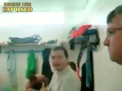 footballers locker room naked celebrations