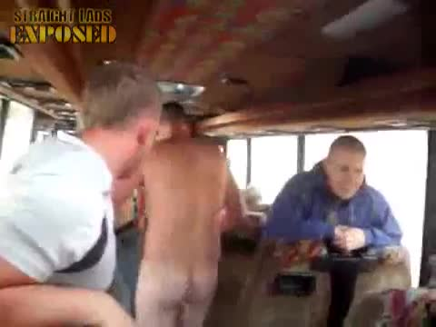 rubgy players get naked on tour bus