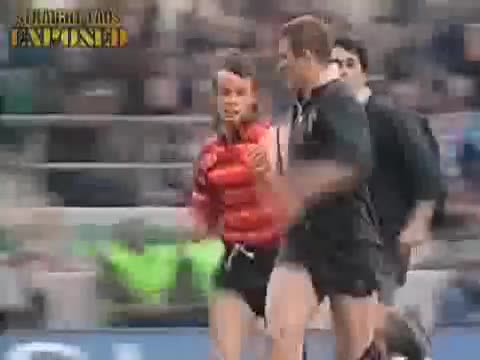 rugby player balls out
