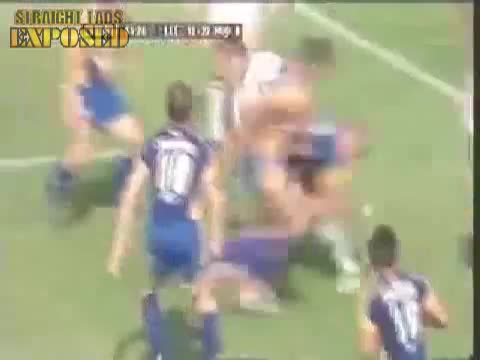 rugby players shorts pulled down