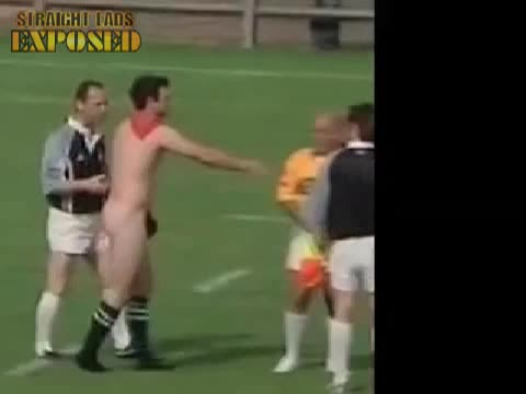 rugby player naked on pitch