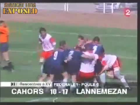 rugby players butt in scrum