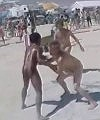 Naked Oil Wrestling At Burning Man