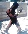 Big Black Builder Dances Naked