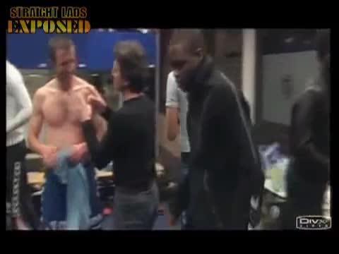 strasbourg players in locker room