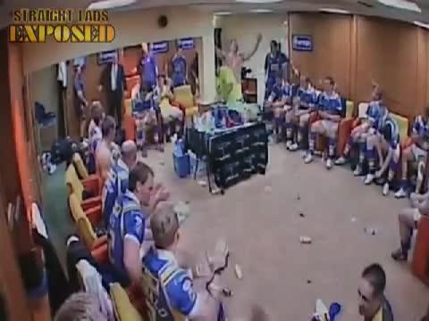 leeds rhinos players in locker room