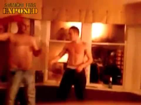 lads strip in pub