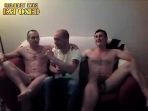 naked tatooed lads at party