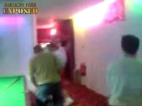 chav lads do dick dance