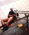 Naked Man At Station
