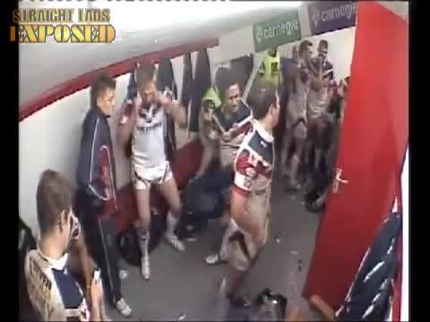 rugby teams in locker rooms