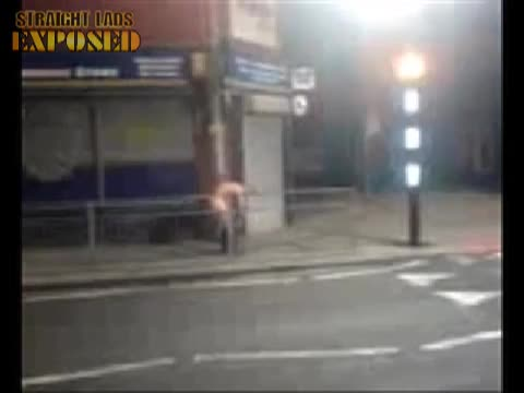 naked lad in street