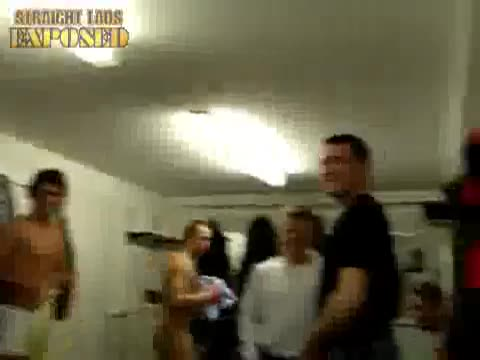 footallers naked in locker room