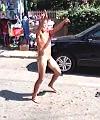 Strange Naked Man In The Street