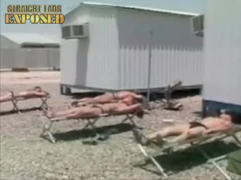 marines sun bathing
