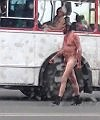 Naked Man Walking In The Street