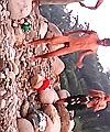 Naked Asian Man On Rocks